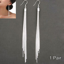 Fashion Women's Jewelry Silver Plated Long Hook Tassels Drop Dangle Earrings Hot