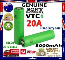 Sony US 18650 VTC6 3000mAh 3.7v HIGH CURRENT 55Amp* Lithium Rechargeable Battery