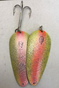 300 Series Eppinger Huskie Devle Spoon lure 3.25oz- Sparkle Yellow Orange/Pink