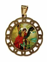 St. Michael Archangel 18k Gold Plated with 20 inch Chain - San Miguel Arcangel