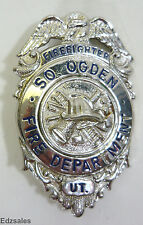 Collectible South Ogden Utah Firefighter Fire Department Pin Badge