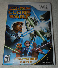 Star Wars the Clone Wars Lightsaber Duels Video Game Nintendo Wii 2008 Lucasfilm