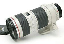 Canon Zoom Lens EF 4/70-200mm L USM W/Original Tripod Collar & ET-74 Hood. MINT-
