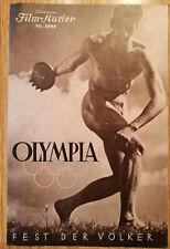 """Filmprogramm  Leni Riefenstahl  """"Fest der Völker"""" , Olympiade 1936"""