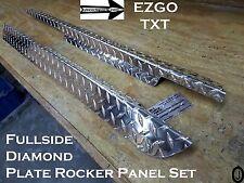 Ezgo TxT Golf Cart Polished Aluminum Diamond Plate Rocker Panel set 1995-Up