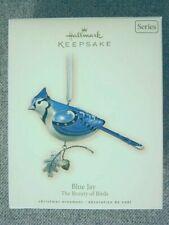 "Very Nice 2007 Hallmark ""Blue Jay� Ornament; #3 In Beauty of Birds Series"