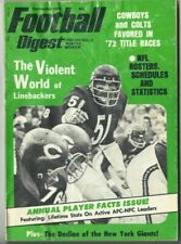 1972 SEP Football Digest magazine, Dick Butkus, Chicago Bears FAIR NO LABEL
