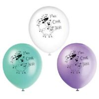 "8 x Pastel Farm Animals Latex Balloons 12"" Baby Birthday Party Decoration Yard"