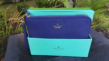 Kate Spade Everpurse Quentin Wristlet Purse Clutch Just Charge It Navy Leather