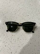 Ray-Ban RB3016 Clubmaster Unisex Sunglasses Black and Green.