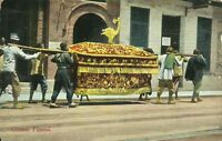 A Chinese Funeral Shanghai China 1907 Postcard