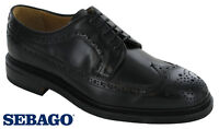 Sebago Brogue Formal Shoes Mens Premium Leather Lined Soft Casual Flats