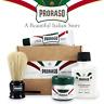 Proraso Travel Shave Kit Shaving Cream Pre Shave Balm & Brush Gift Set