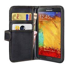 Für Samsung Galaxy Note 3 Bookstyle Tasche Hülle passgenau, schwarz