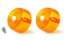 2X Amber Turn Signal lens for Yamaha AT CS DT HS GT80 L5T LB R5 YR1 2 YCS1 XS1