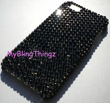 For iPhone 7 Plus BLACK Rhinestone Bling Back Case made w/ Swarovski Crystals