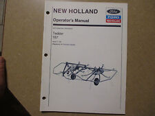 New Holland 157 hay tedder owners & maintenance manual