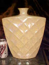 BIG Beautifl IRIDESCENT Waffle Pattern Vase NARROW SHAPE UNIQ NEW!             !