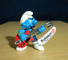 Smurfs Lead Guitar Player Smurf Vintage Figure Music Band Toy PVC Figurine 20449