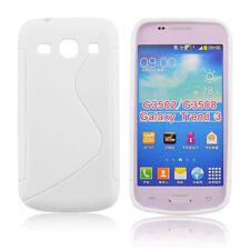 Samsung G3500 G3502 Galaxy Core Plus - Housse silicone souple anti choc - Blanc