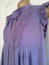 NEXT BNWT ladies purple decorated top with silk trims size 16
