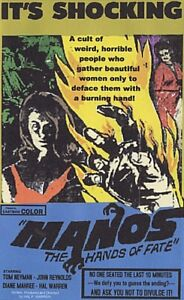 Manos The Hands of Fate 1966 Horror  DVD