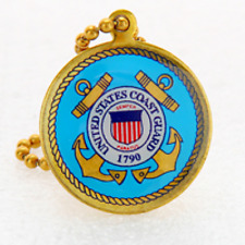 "Coast Guard Key Chain 1"" (Made in the Usa) Rare"