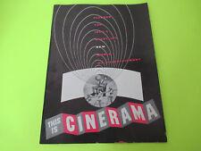 Vintage This Is Cinerama Show Program Book