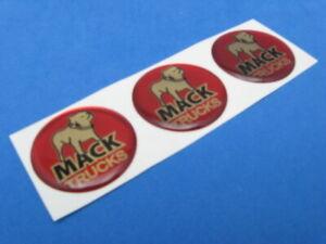 MACK TRUCKS LOGO DOMED DECAL EMBLEM STICKER SET OF THREE #188
