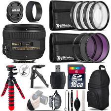 Nikon AF-S 50mm 1.4G + MACRO, UV-CPL-FLD Filter - 16GB Accessory Kit