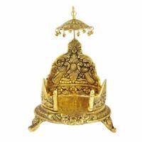 Big Aluminium Metal Antique Golden Finish Singhasan Sitting Place for God