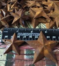 "50 TOTAL Rusty Barn Stars (25) 1.5"" 38mm & (25) 2.25"" 64mm Country Rust Craft"