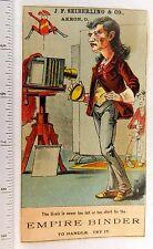 Superb Comic Photographer Study Camera, J.F. Seiberling & Co, Empire Binder F55