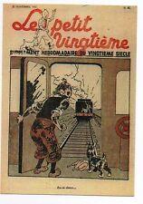 Carte Postale Tintin. Le Petit Vingtième n°47 de 1937. Dans le train. F/40