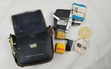 Keystone Movie Camera And Case Vtg K 808 Zoom Cowhide Case with NIB kodak film