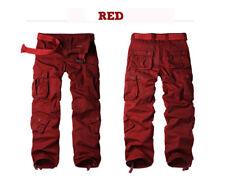 Men's Cotton Utility Military Army Cargo Camo Combat Work Pants Multi Pockets
