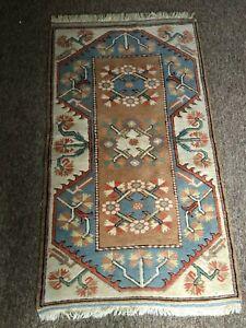 Turkish Milas Handmade Vintage Traditional Oriental Wool Rug 140 cm x 79 cm