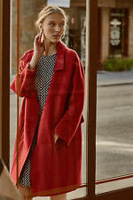 NEW ANTHROPOLOGIE $238 RED BRIENNE COAT BY ELEVENSES SZ XS EXTRA SMALL