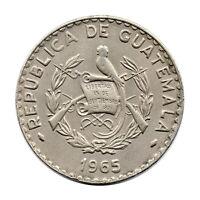 KM# 268 - 25 Centavos - Guatemala - 1965 (EF)