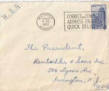 India, commercial cover, #236, temple, 1951
