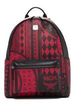 100% AUTHENTIC NEW MCM STARK SIDE STUD MEDIUM RED BAROQUE BACKPACK BAG