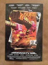 "JODOROWSKY'S DUNE  - ORIGINAL MOVIE POSTCARD Poster 4""x6"" MINT 2014"