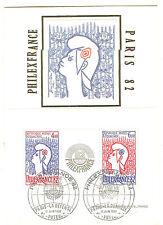 CP 1 er JOUR bloc N° 8 philex france 1982 oblitéré 11. 6. 1982 cote yvert 35€