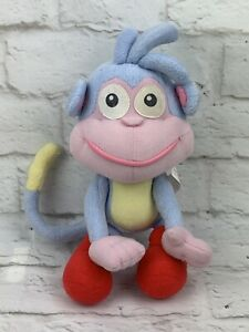 "Talking BOOTS Monkey Plush Doll 2001 Dora the Explorer 10"" Fisher Price Works!"