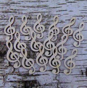 15 Stck. Notenschlüssel Violinschlüssel 5 cm Musikanten Geschenk Geburtstag Holz