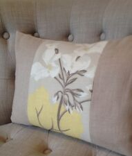 "12x18"" Cushion cover Laura Ashley Millwood Camomile/ Bacall Truffle"
