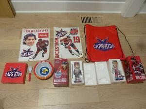 2013/14 & 2014/15 Washington Capitals Kids Club Goodies (Bobbleheads included)