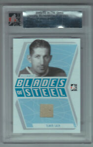 2005-06 ITG Ultimate Memorabilia Elmer Lach Game Used Skate #21/25