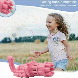 Gatling Bubble Machine Bubbler Maker Safe Summer Cooling Fan Gun For Kid Outdoor
