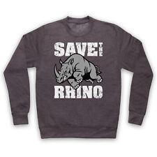 Save The Chubby licornes Sweat à capuche RHINO WILDLIFE extinction Sweat à Capuche Enfants /& Adultes